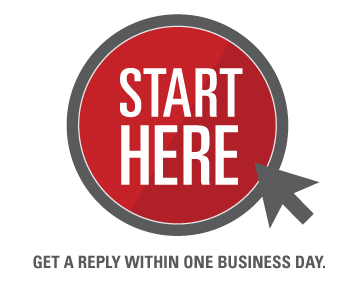 Start here. Get a reply within one business day.